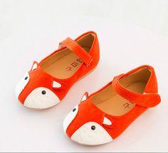 New Baby Toddler Shoes Kids girls Dancing Shoes Casual Shoes Girl Cute Fox Flat