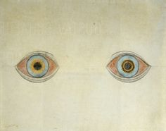 August Natterer, My eyes at the moment of the apparitions, 1911-1913