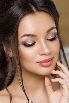 36 ideas for natural bridal makeup - Braut Make-up - Eye Makeup Wedding Makeup For Brown Eyes, Wedding Makeup Tips, Natural Wedding Makeup, Wedding Hair And Makeup, Romantic Makeup, Bridesmaid Makeup Natural, Hair Wedding, Makeup For Bridesmaids, Wedding Beauty