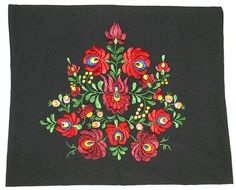 New hand made hungarian Matyo floral embroidered black pillow case. Made with silk thread. Size: Hand wash only. Hungarian Embroidery, Embroidery Works, Folk Embroidery, Black Pillow Cases, Folk Art, Buddha Sculpture, Buddha Painting, Edwardian Dress, Sharpies