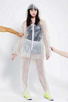 Get the party POPPIN' by prancing around in this bubble wrap costume. #creepitreal