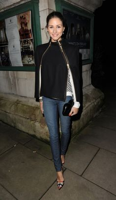 DenimBlog Weekly Round Up - Olivia Palermo in Paige emily Ultra Skinny Jeans