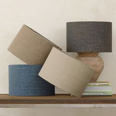 Burlap Lampshade. Four colors to add natural, textural warmth to a room.