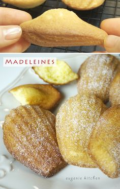 Lemon Madeleines Recipe - Classic French Butter Cake - Eugenie Kitchen