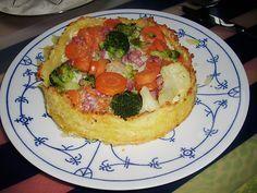 Gemüsequiche mit Kloßteig