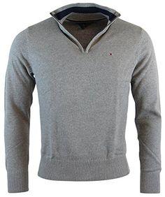 Tommy Hilfiger Mens Half-Zip Mock Neck Sweater