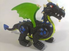 Mattel Dragon Interactive Imaginext P6257 Winged 2007 Toy Roars Sounds  #Mattel