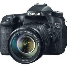 Câmera Canon Dslr Eos 70d Com Lente 18-135mm