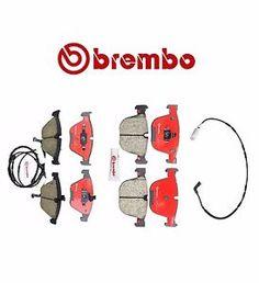 a new brembo premium ceramic brake pads sensors front rear bmw e60 e63