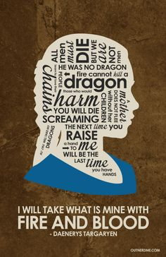 Game of Thrones Daenerys Targaryen Quote Poster #daenerys #gameofthrones