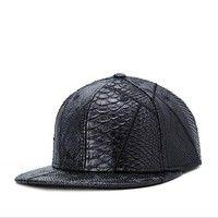 I think you'll like New 2015 Super Cool Snapback Caps PU Leather Embossed Cool Baseball Cap Fashion Hip Hop Cap Trucker Hat for Men HK042. Add it to your wishlist! http://www.wish.com/c/554989d2fc04c40eb36ecbf0