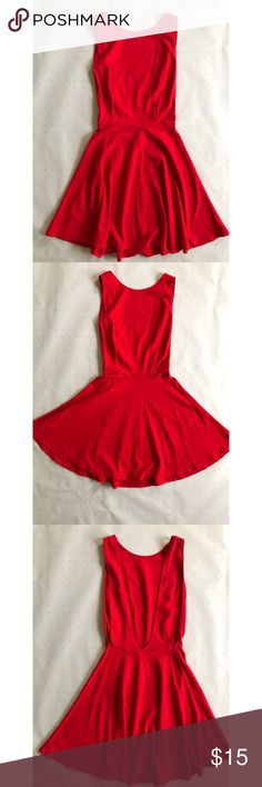 Red A.A. Skater dress American apparel. Medium. Open back. Ships from San Diego. American Apparel Dresses Mini