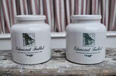 Set of two Mustard Pot / Vintage Sandstone par LaBourgognedeNath