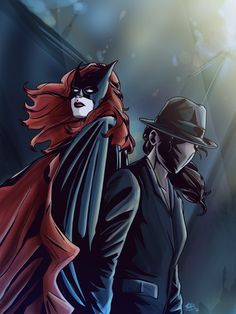 Batwoman (Kate Kane) and The Question 2 (Renee Montoya)Probably my favorite canon couple in DC, although they're pretty on and off