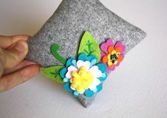 Spring blossom Pincushion Pin Cushion Felt by FruityCocoIsland, $18.00