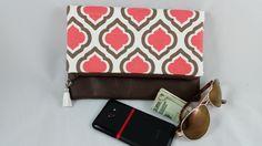 Foldover Clutch, Vegan Leather Clutch, Zipper Clutch, Tassel Clutch, iPad Case, Gift by DemiChicDesign on Etsy