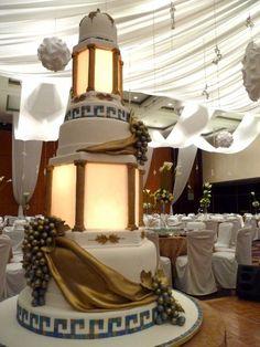 My Grecian Wedding Cake by Peachy Juban