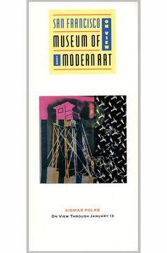 On View 1990: Vintage Brochure of the San Francisco Museum of Modern Art (SFMOMA) on Van Ness St. Sigmar Polke, Sebastiao Salgado (26107) by ArtPaperEtc on Etsy