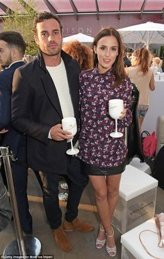 It's official:Lucy Watson and her newbie co-star James Dunmore finally confirmed that their romance has blossomed into a relationship as they made their first public appearance together on Tuesday evening