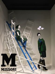 """LA RINASCENTE, Milan, Italy, """"Suzan... It's better to be at the bottom of the ladder you want to climb than the top of the one you don't"""",  for Missoni, creative by Lab Zero Cinque, pinned by Ton van der Veer"""