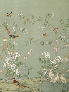 Alison Davies Miniatures. Chinoiserie wallpaper including 12th scale furniture, cabinets, tables, chairs, dolls, murals and fabrics for dolls house collectors. Mainly designed from French Antique originals and influenced by the 18th century and also faded grandeur. Items would have been placed in Chateau and manor houses. The detail is intricate and excellent quality