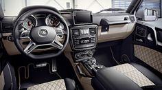 """Mercedes-Benz G-Class (BR AMG G 63 """"Edition Interieur: designo Nappaleder schwarz/porzellan, Zierteile AMG Carbon interior: designo nappa leather black/porcelain, AMG carbon trim parts Mercedes Benz G63, Old Mercedes, Mercedes Benz G Class, Black G Wagon, G Wagon Interior, G63 Amg, Daimler Benz, Best Classic Cars, Limousine"""