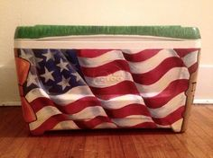 waving American flag fraternity cooler