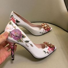 Stilettos, Women's Pumps, Sexy High Heels, Low Heels, Women's Shoes, White Wedding Shoes, Flower Shoes, Crystal Shoes, Summer Shoes
