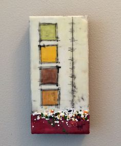 Encaustic-wax on wood by M Miller