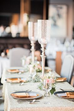 The perfect English garden decor by Sparks Weddings: romantic blush hues, paired with cream tones and delicate foliage are a timeless classic in the wedding industry. Perfect English, Industrial Wedding, Timeless Classic, Table Settings, Delicate, Blush, Romantic, Candles, Table Decorations