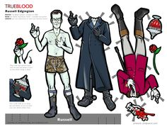 Russell Edgington of True Blood Paper Doll