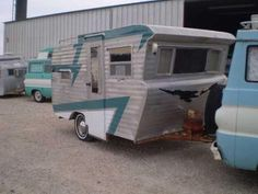 painting idea for my pop up camper....1960 camper trailer