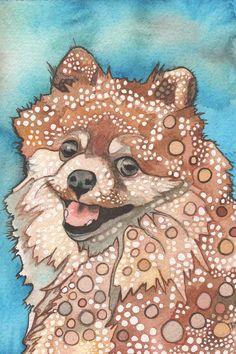 Pomeranian Dog [4 x 6 print by Tamara Phillips]