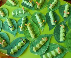 Idde for the Little Caterpillar Nimmersatt (Diy Deco Summer) # Hungry Caterpillar Activities, Very Hungry Caterpillar, Caterpillar Craft, Egg Carton Caterpillar, Paper Crafts For Kids, Projects For Kids, Diy For Kids, Insect Crafts, Bug Crafts