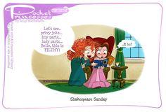 Pocket Princesses 222: Shakespeare Sunday Please reblog, don't repost, edit or remove captions Facebook - Instagram