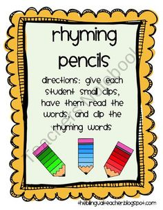 Rhyming Pencils (18 pages)