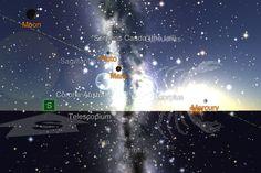 Moon Pluto sun Mercury  Saturn Venus begins to set11/18/12 3:52 PM