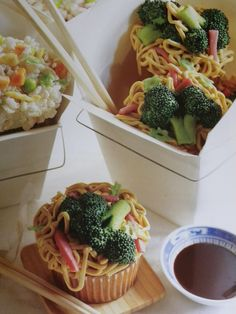 Cupcakes that look like Chinese food!