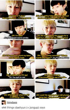 my goodness these two - Daehyun and Jongup and run a gag show together XD