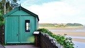 View of Dylan Thomas' writing shed