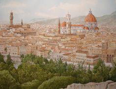 """Saatchi Online Artist: Kevin Butters; Watercolor, Painting """"Florence"""""""