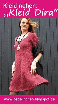 Kleid Dira - das perfekte Weihnachtskleid - genäht aus einem Strukturjersey. Einfach perfekt zum Wohlfühlen!