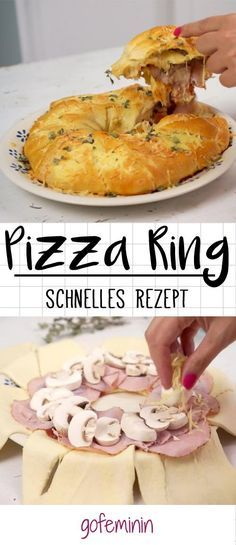 So zauberst du dir super schnell einen leckeren Pizzaring für deine Party!