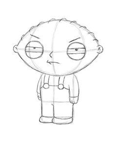 Draw Stewie Griffin Step 18