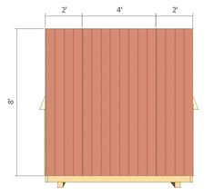 shed plans - small barn - front wall siding. 8x8 Shed, Shed Construction, Small Barns, Build Your Own Shed, Run In Shed, Building A Shed, Building Ideas, Diy Shed Plans, Shed Kits
