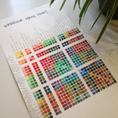 My new giant watercolor mixing chart. angela-simone.com