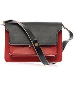 Trunk saffiano calfskin shoulder bag