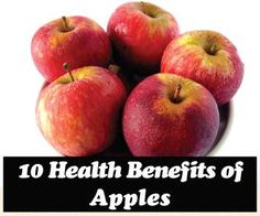 10 Health Benefits of Apples - As I pour over the 10 health benefits of apples I am astounded to see a lot of cancer prevention references.  The skins of apples contains very special fiber known as pectin, which acts as a stool softener and also has been known to prevent colon cancer.