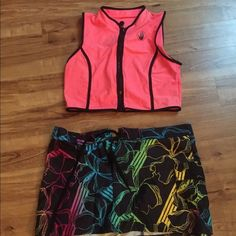 Swim top Body glove neon pink swim top made out of swim suit material with front zipper Body Glove Swim