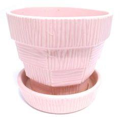 Pink - McCoy Basket Weave Planter